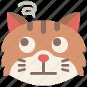 animal, boredom, cat, emoji, emotion, feeling, pet