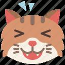 cat, emoji, emotion, feeling, happy, laughing, pet