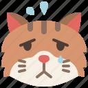animal, cat, cry, emoji, emotion, feeling, sad