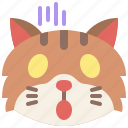 animal, cat, emoji, emotion, feeling, pet, scream