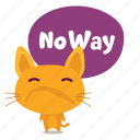 cat, emoji, rejection icon