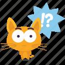 cat, emoji, question icon
