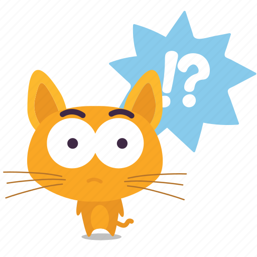 cat, emoji, question icon