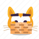 cat, emoji, hiding icon