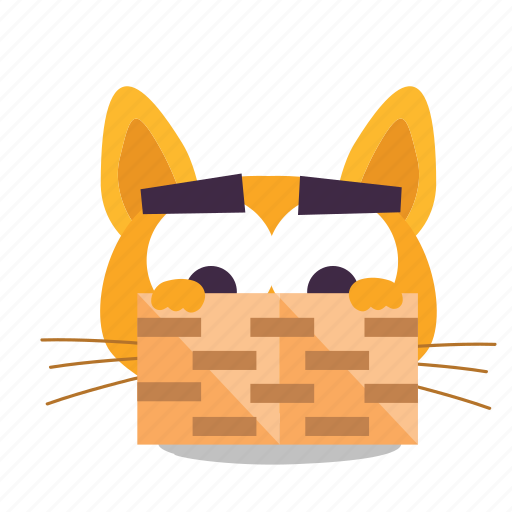 cat, emoji, hiding icon