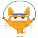 cat, emoji, exercise icon