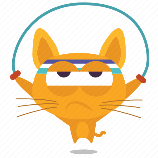 cat, emoji, exercise icon