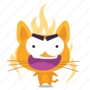 cat, emoji, rage icon