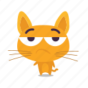 cat, emoji, meh icon