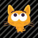 cat, confused, emoji icon
