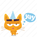 cat, emoji, sarcastic icon