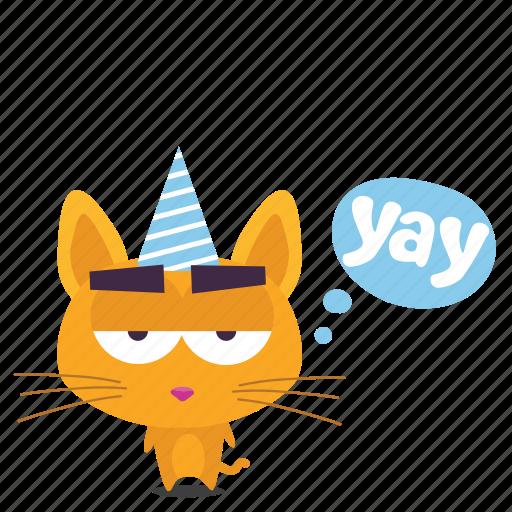 cat, emoji, sarcastic icon