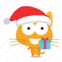 cat, christmas, emoji icon
