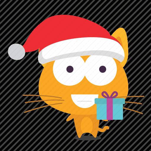 cat, christmas, emoji icon