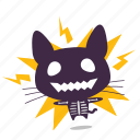 cat, emoji, shock icon
