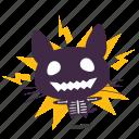 cat, emoji, shock icon