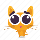 adorable, cat, emoji icon