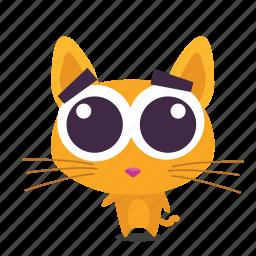 adorable, cat, emoji icon