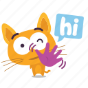 cat, emoji, hello icon