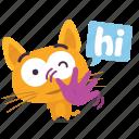 cat, emoji, hello icon