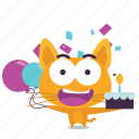 birthday, cat, emoji icon