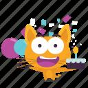 birthday, cat, emoji icon