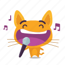 cat, emoji, karaoke icon