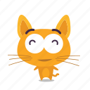 cat, content, emoji icon