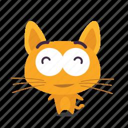 cat, content, emoji icon