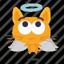 angel, cat, emoji icon