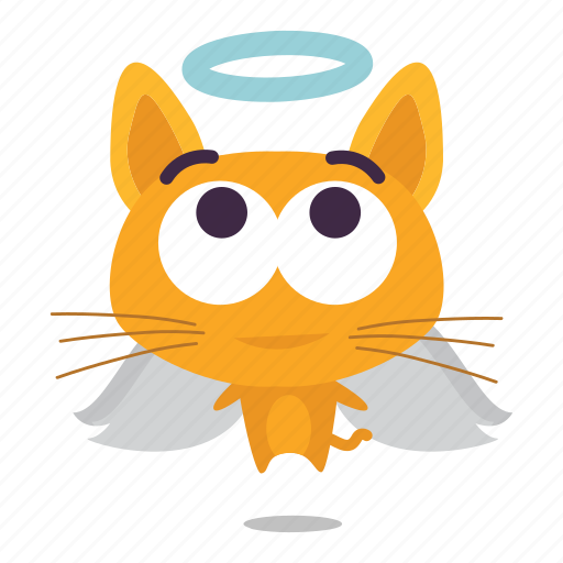 angel, cat, emoji icon