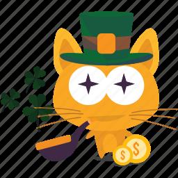 cat, emoji, lucky icon