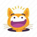 cat, emoji, falling icon