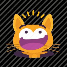 cat, emoji, falling icon