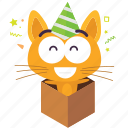 cat, emoji, surprise icon