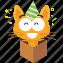 cat, emoji, surprise icon