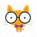 cat, emoji, geek icon