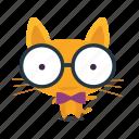 cat, emoji, geek icon