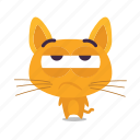 bored, cat, emoji icon