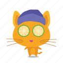cat, emoji, relax icon