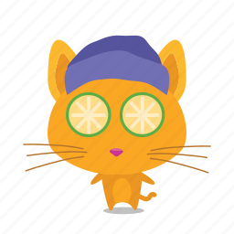 cat, emoji, relax icon