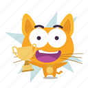 cat, emoji, winner icon