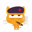 cat, emoji, revolution icon