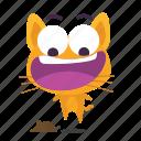 afraid, cat, emoji icon