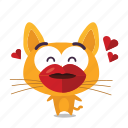 cat, emoji, kiss icon