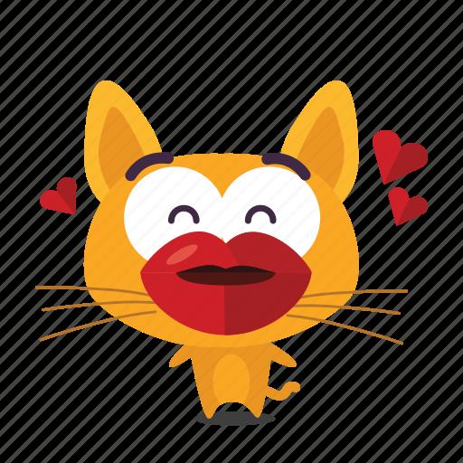 cat, emoji, kiss icon