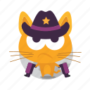 cat, emoji, western icon