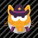 cat, emoji, western icon