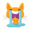 cat, crying, emoji icon