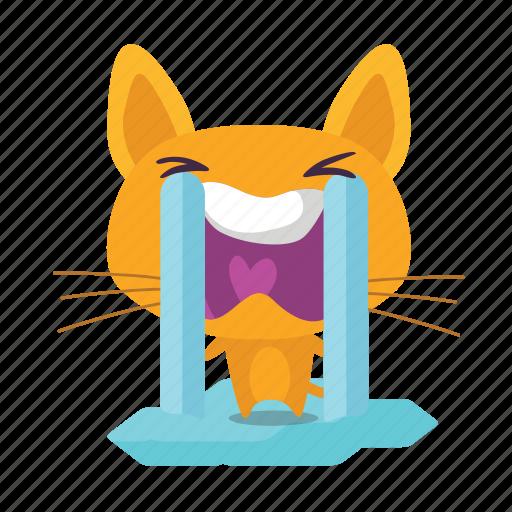 cat, crying, emoji icon